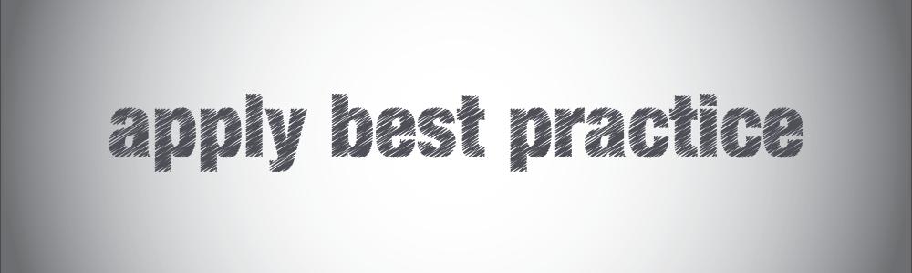 install best practice